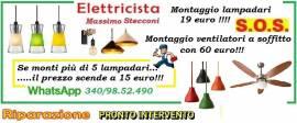 ELETTRICISTA LAMPADARIO E PLAFONIERA