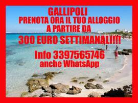 Gallipoli economica casa vacanze 50 metri dal mare