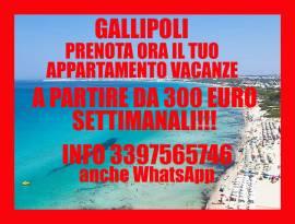 Gallipoli economicissimo appartamento vacanze sul mare