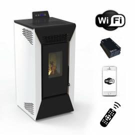 Stufa a pellet wifi Courmayeur 8,74 kw ventilata Bianco per riscaldamento
