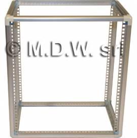 """Struttura a telaio in alluminio per hi fi, tv, elettronica in formato rack 19"""""""