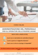 Corso Amministrazione del Personale per la gestione delle Risorse Umane