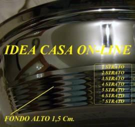AMC BATTERIA DI PENTOLE 23 PEZZI ACCIAIO INOX !8/10