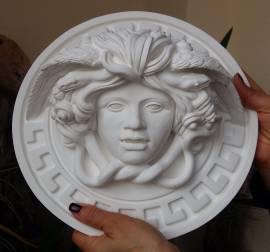 Mitologica Medusa scultura con diametro di 30 cm