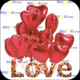 San Valentino decorazioni e idee regalo. Palloncini, peluches, cuori,...