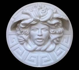 Dalla mitologia classica la Medusa scultura diametro 45 cm