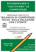 """Webinar Gratuito """"Bilancio di Competenze: Focus sulla Relazione con l'Utente"""""""