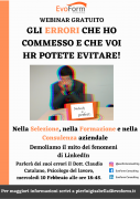 """Webinar Gratuito: """"Gli errori che ho commesso e che voi HR potete evitare!"""""""