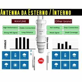 Amplificatore segnale wifi da esterno 2.4G + 5G lunga distanza