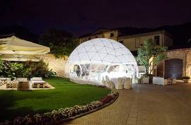 Cupola geodetica per eventi fiere spettacoli