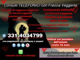 CONSULTI DI CARTOMANZIA E VEGGENZA TELEFONICA