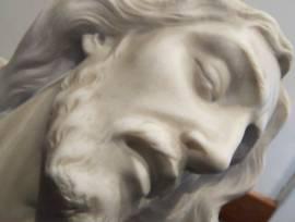 Scultura XVX volto di Cristo