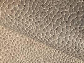 Pelle stampa cocco colore ghiaccio