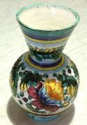Vecchio Vaso Deruta in ceramica dipinta a mano antico decoro numerato 170/30