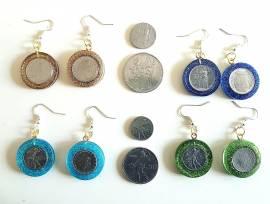 Orecchini micro lire e 1 centesimo