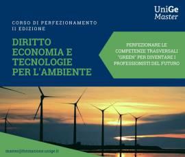 Diritto economia e tecnologie per l'ambiente