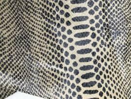 Pelle stampata serpente da pelletteria