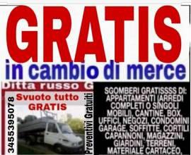 Sgomberi trasporti traslochi GRATIS 3455395078