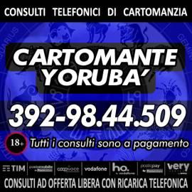 Yoruba' svolge consulti di Cartomanzia al telefono tutti i giorni dalle ore 9 alle 21