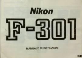 Manuale d'istruzione in italiano macchina fotografica Nikon F-301 perfetto