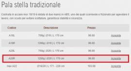 Pala professionale inox per pizza inox A20R