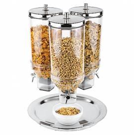 Distributore professionale di cereali in acciaio inox e plexiglass