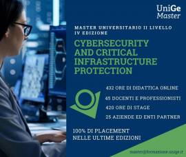 Master in Cybersecurity and critical infrastructure