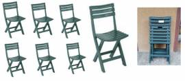sedie da giardino verdi richiudibili (6)