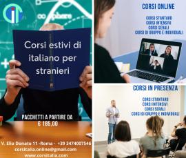 Corsi estivi di lingua italiana per stranieri