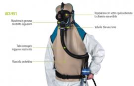 Maschera - Respiratore Per Sabbiatura Set Acs 951 Spasciani