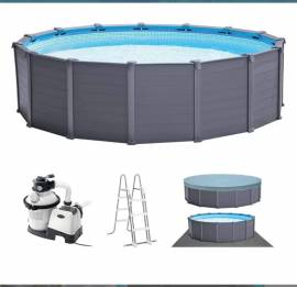 Piscina Fuori Terra In Grafite 478x124 Cm intex rotonda