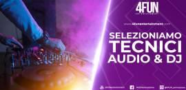 TECNICO SUONO/LUCI e/o DJ PER STRUTTURE TURISTICHE
