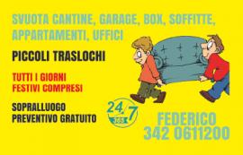 Piccoli traslochi,sgomberi locali,mansarde,cantine,garage,box,Parma