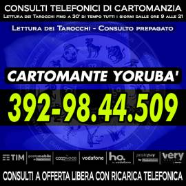 Consulto telefonico di Cartomanzia con offerta - Studio di Cartomanzia del Cartomante YORUBA'