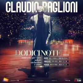 Claudio Baglioni 2 biglietti Platea numerata centrale Roma 11 giugno 2022