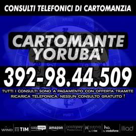 Yorubà effettua consulti di Cartomanzia tutti i giorni dalle ore 9 alle 21