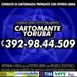 YORUBA' svolge consulti di Cartomanzia tutti i giorni dalle ore 9 alle 21 in orario continuato