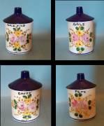 Set 4 Barattoli in ceramica marca Deruta-anni 50 (Sale, Sale fino, Pepe, Caffè)