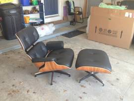 Herman Miller Charles Eames Santos Lounge Chair and Ottoman