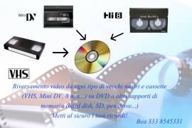 Riversamento video VHS, 8mm, miniDv