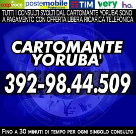Il Consulto con il Cartomante YORUBA' è con Offerta Ricarica Telefonica/Ricarica PostePay