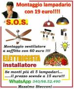 Quanto costa installare un lampadario a sospensione a Roma