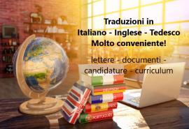 Traduzioni in ITALIANO – TEDESCO – INGLESE!