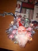 Luminare Vintage Corona Babbo Natale luci pisellino, nuova anni 80