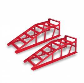 Rampe per auto due pezzi rosse 2000kg