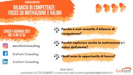 """Webinar Gratuito: """"Bilancio di Competenze: Focus su Motivazione e Valori"""""""