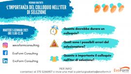 """Webinar Gratuito: """"L' importanza del Colloquio nell'iter di Selezione"""""""