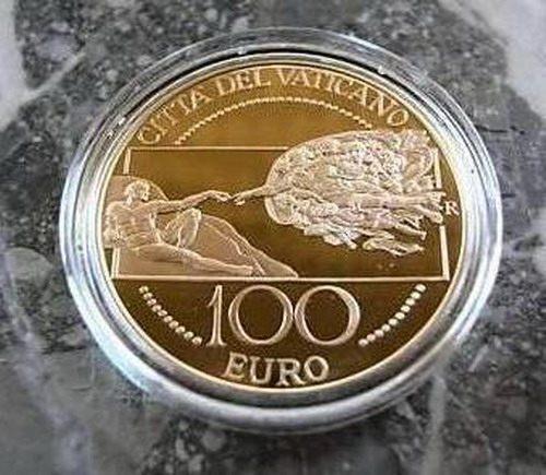MONETA D'ORO VATICANO 100 EURO 2008