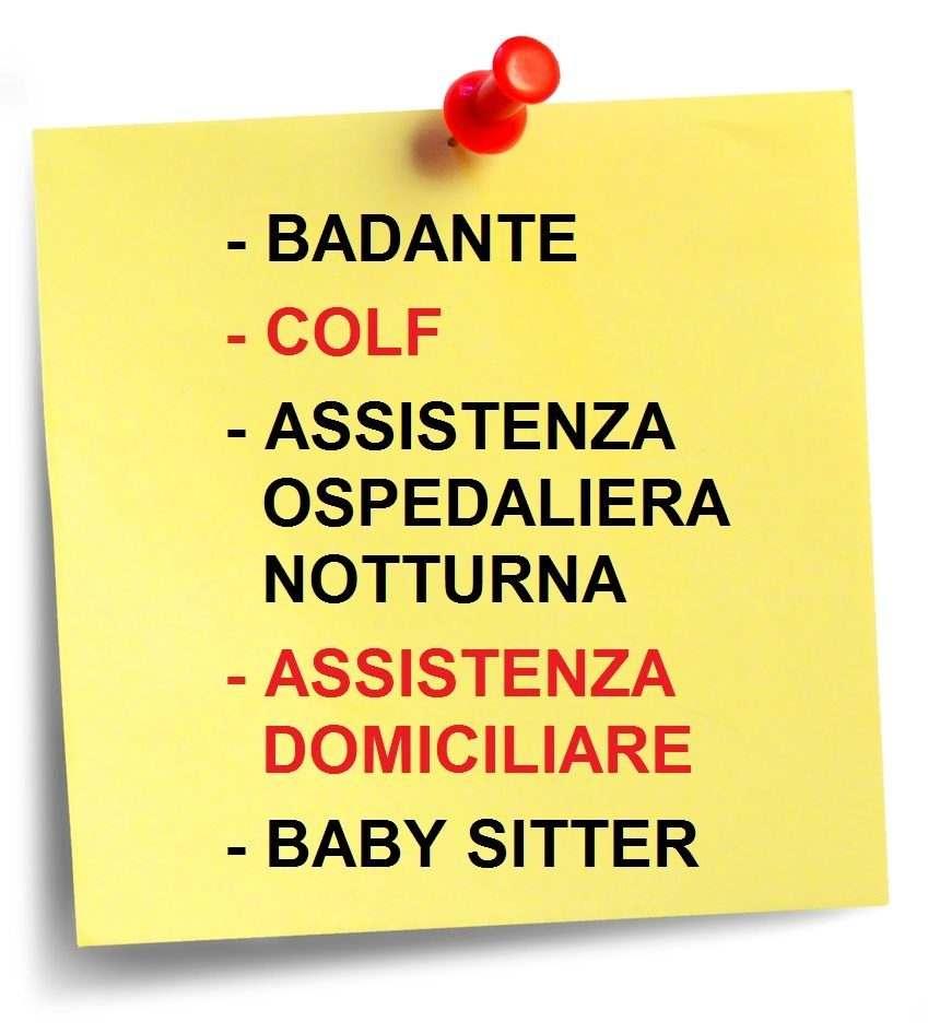 Badante, colf, assistenza ospedaliera e domiciliare, baby sitter