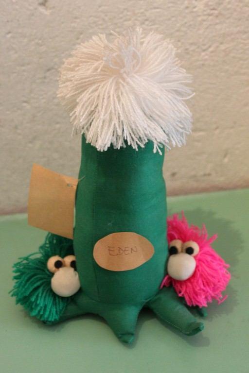 30 cm Alto Peluche Tessuto pupazzo Cactus/Albero Eden cucito a mano anni 90